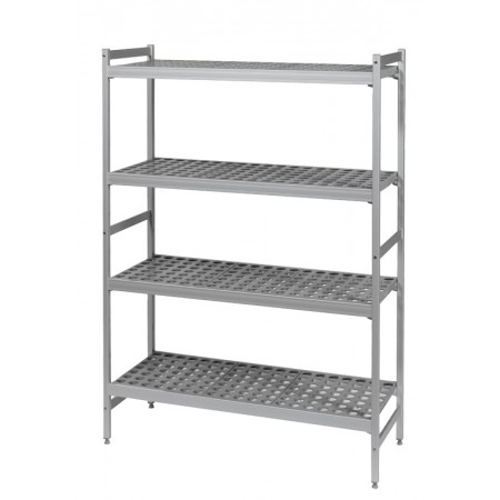Rayonnage pro 6611 Aluminium Clayettes ajourées polymère