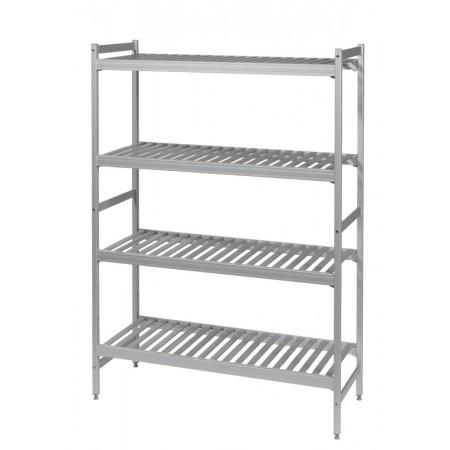 Rayonnage pro 6811 Aluminium Clayettes ajourées aluminium